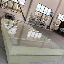 1 tums akrylglasplåt plexi glas tjockt plastmagma ark för växthusdräkt
