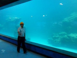 Gjuten vägg UV akrylpanel för akvarium, oceanarium