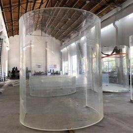 krökt lucit akryl plexi glasplatta för havsakvarium