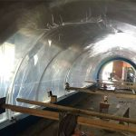 Skräddarsydda stora akrylplastik tunnel akryl projekt