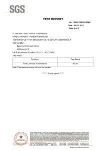 SGS Test Certificate EN
