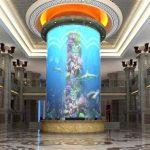 stor cylinder akryl fisk tank